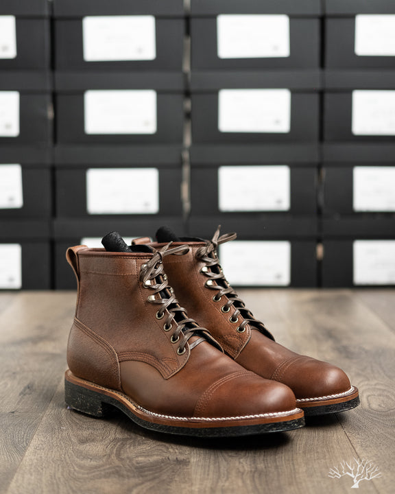 Bobcat Boot - Brown Waxed Flesh Horsebutt - 1035