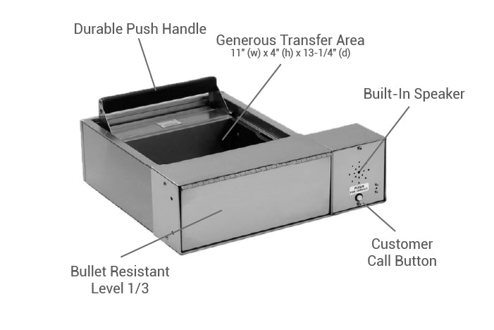 Small transfer drawer details