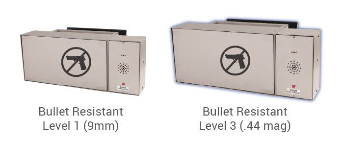 Transaction drawer bullet resistant