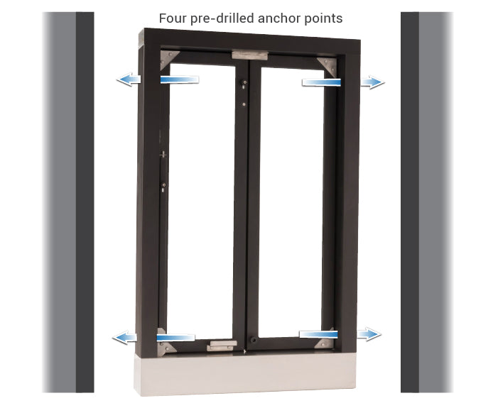 CM-1 bi-fold transaction window installation