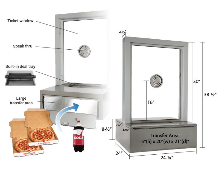 Pizza drawer transaction station