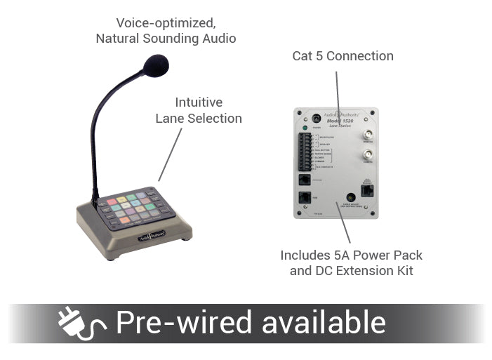 Intercom and module pre-wire