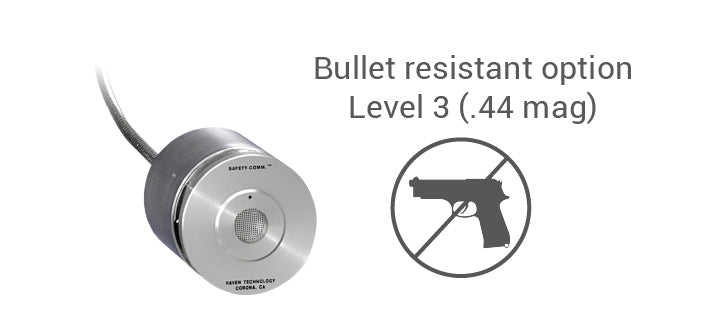 Amplified speak-thru bullet resistant