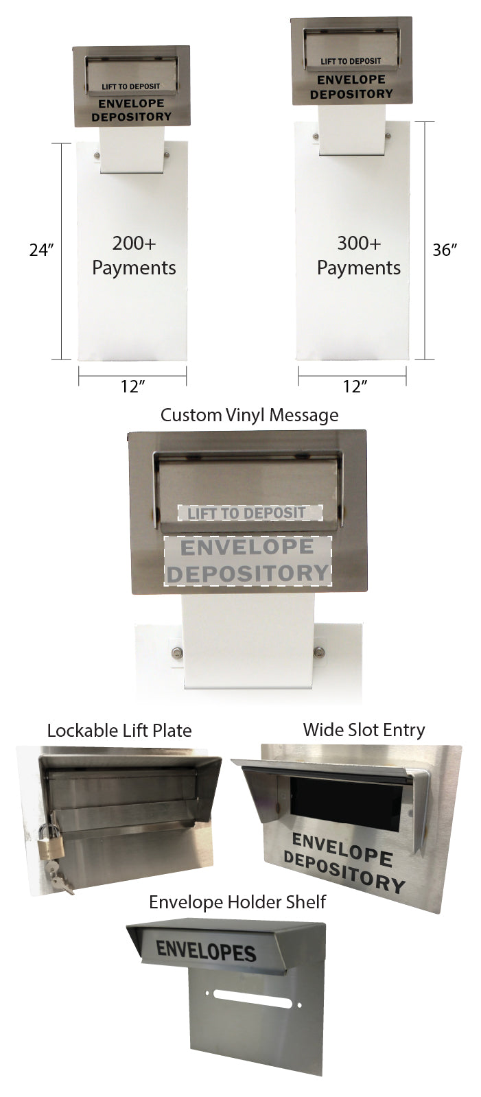 EDU In-Wall envelope payment drop box
