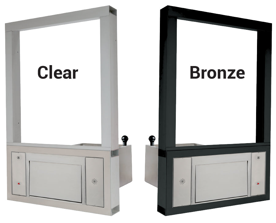 Quikserv large transaction station covenant security bullet resistant clear or bronze frame