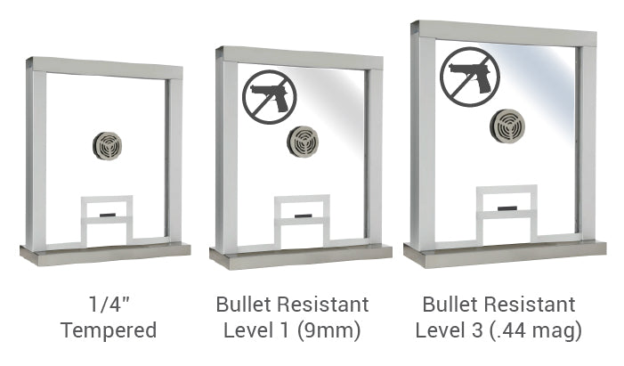 Ticket window bullet resistance levels