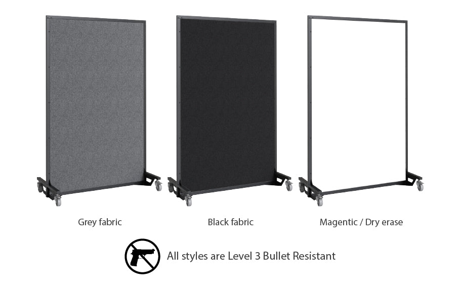Screenflex bullet resistant partition customization