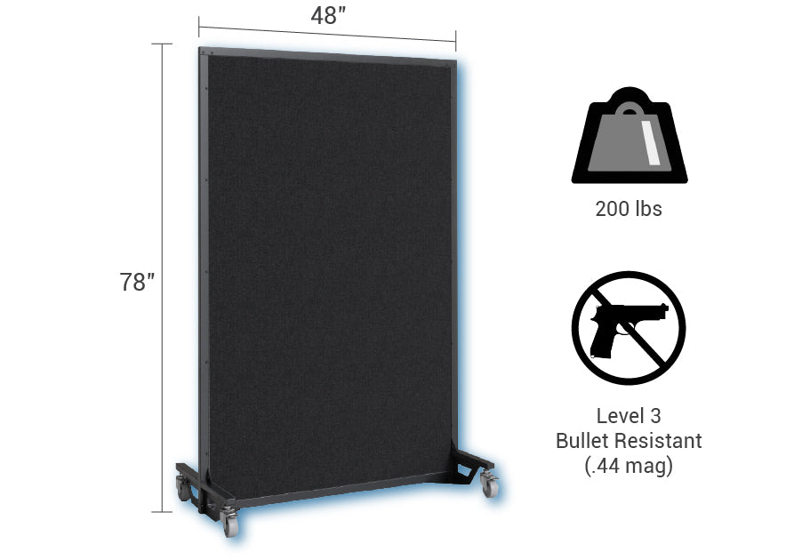 Screenflex bullet resistant partition dimensions