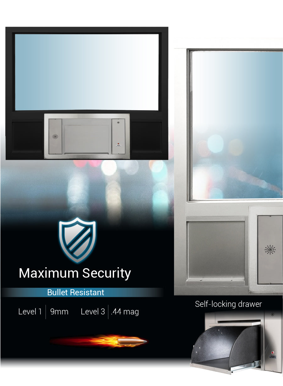 Large transaction station security quikserv covenant security equipment
