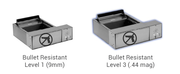 Small transaction drawer bullet resistance