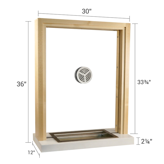 Wooden bullet resistant ticket window size options