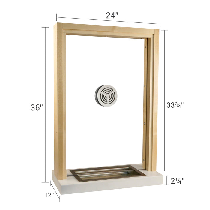 Wooden bullet resistant ticket window size dimensions