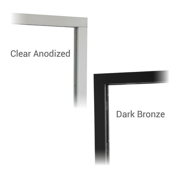 Push Bar Bi-Fold Transaction Window Clear or Bronze