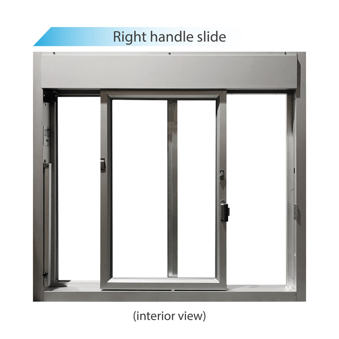Clear 275-SC Ready Access Self Closing Drive-Thru Slider Window Right Hand Slide