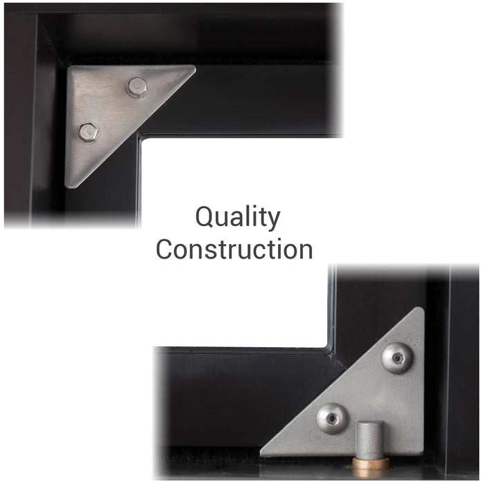 Push Bar Bi-Fold Transaction Window  quality construction