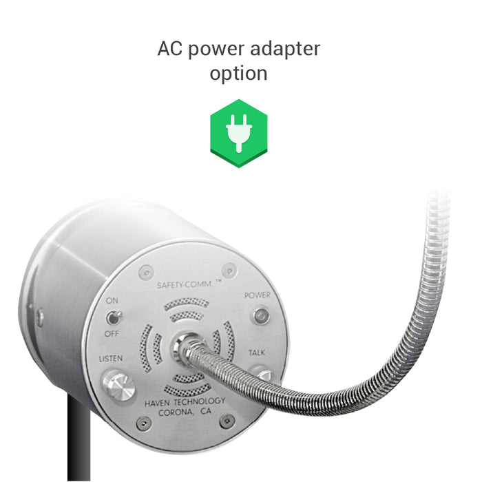 Amplified speak-thru AC power option