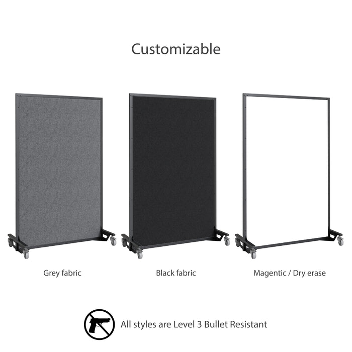 Screenflex bullet resistant partition customizable