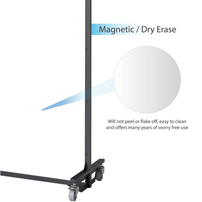 Screenflex bullet resistant partition magnetic dry erase