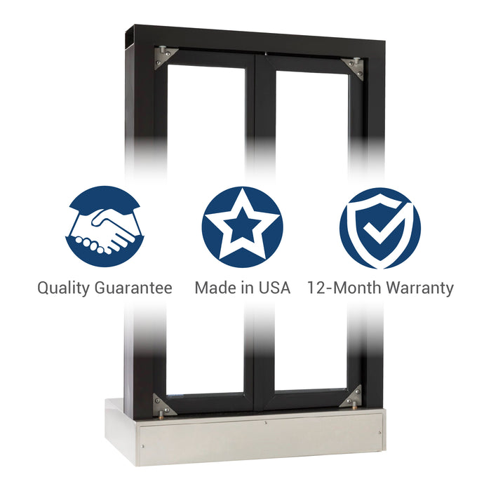 Push Bar Bi-Fold Transaction Window Quality Guarantee