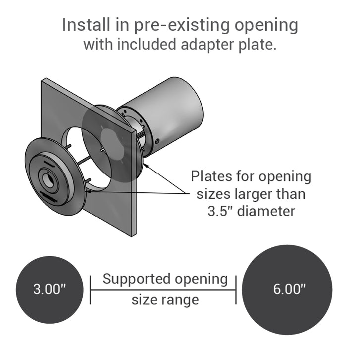 Amplified speak-thru adapter plate details