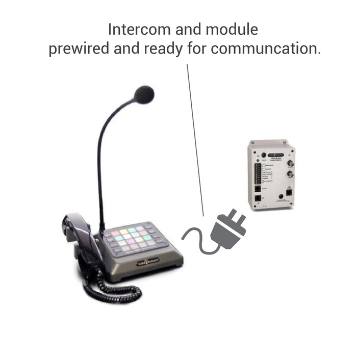 Complete pharmacy package drive-thru intercom and module