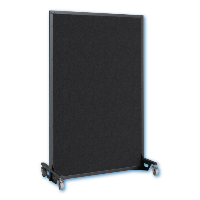 Screenflex bullet resistant partition black