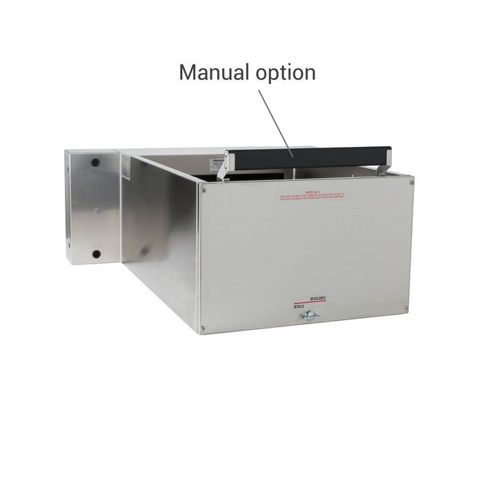 Complete pharmacy package drive-thru manual option drawer