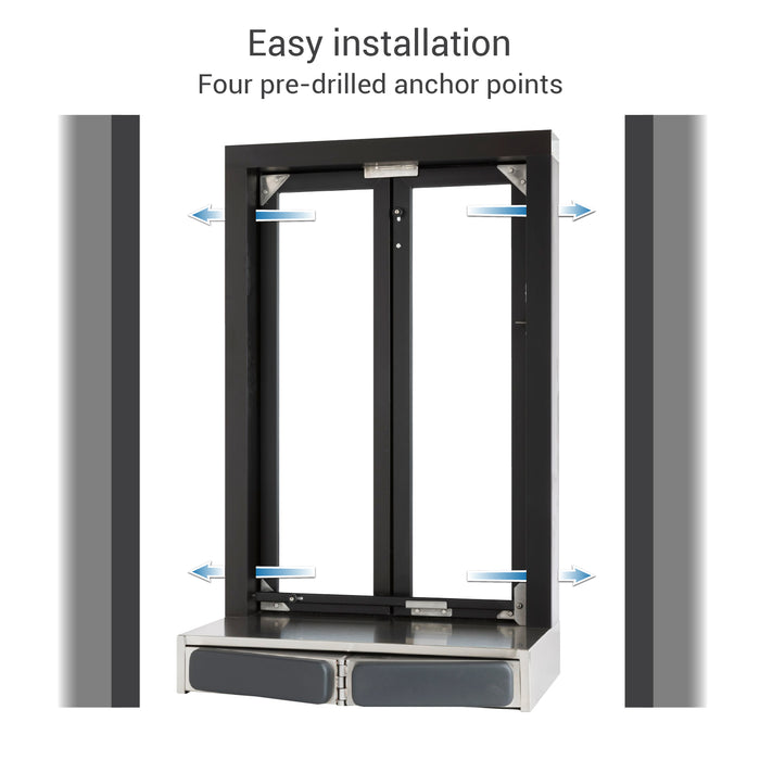 Push Bar Bi-Fold Transaction Window installation