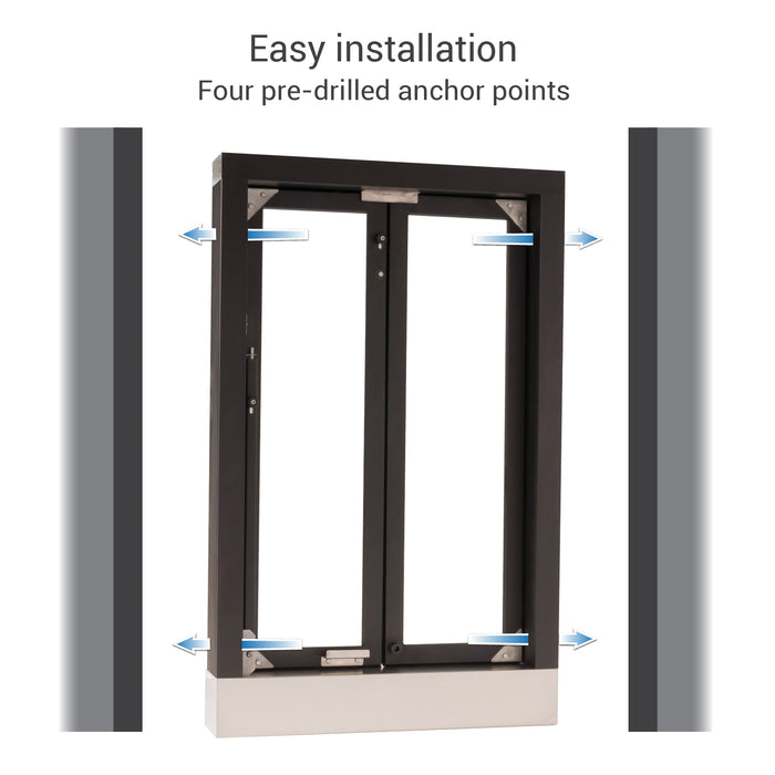 CM-1 Bi-Fold transaction window easy installation