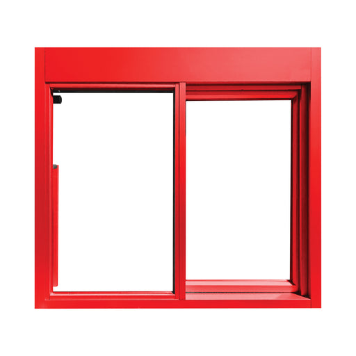 Red 275-SC Ready Access Self Closing Drive-Thru Slider Window Multiple Colors
