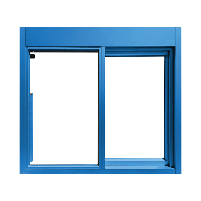 Blue 275-SC Ready Access Self Closing Drive-Thru Slider Window Multiple Colors
