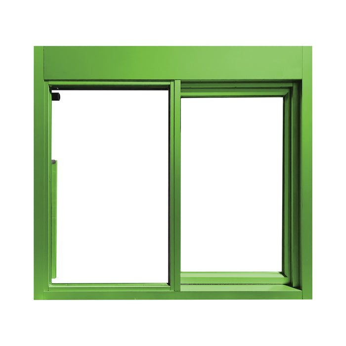 Lime 275-SC Ready Access Self Closing Drive-Thru Slider Window Multiple Colors