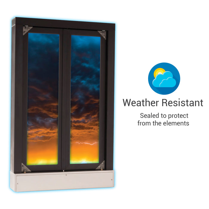 CM-1 Bi-Fold transaction window weather resistant