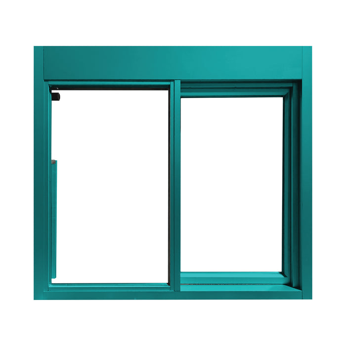 Teal 275-SC Ready Access Self Closing Drive-Thru Slider Window Multiple Colors