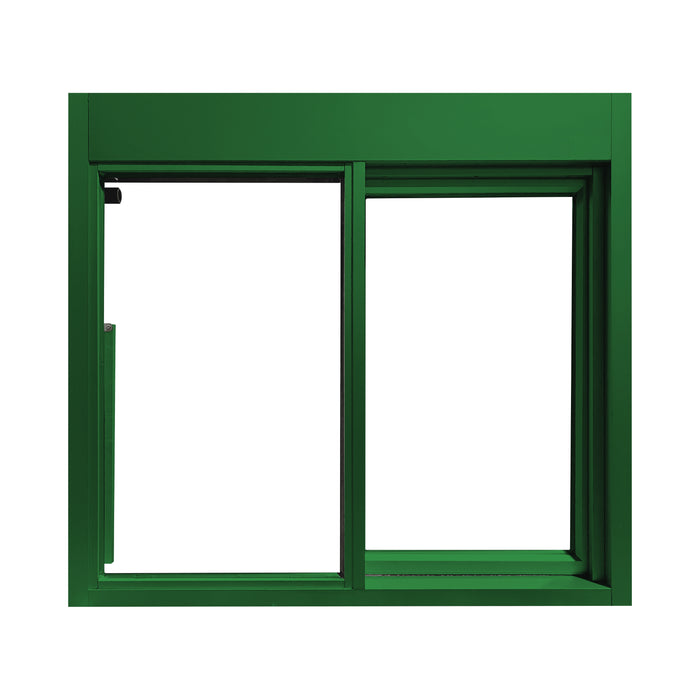 Forest Green 275-SC Ready Access Self Closing Drive-Thru Slider Window Multiple Colors