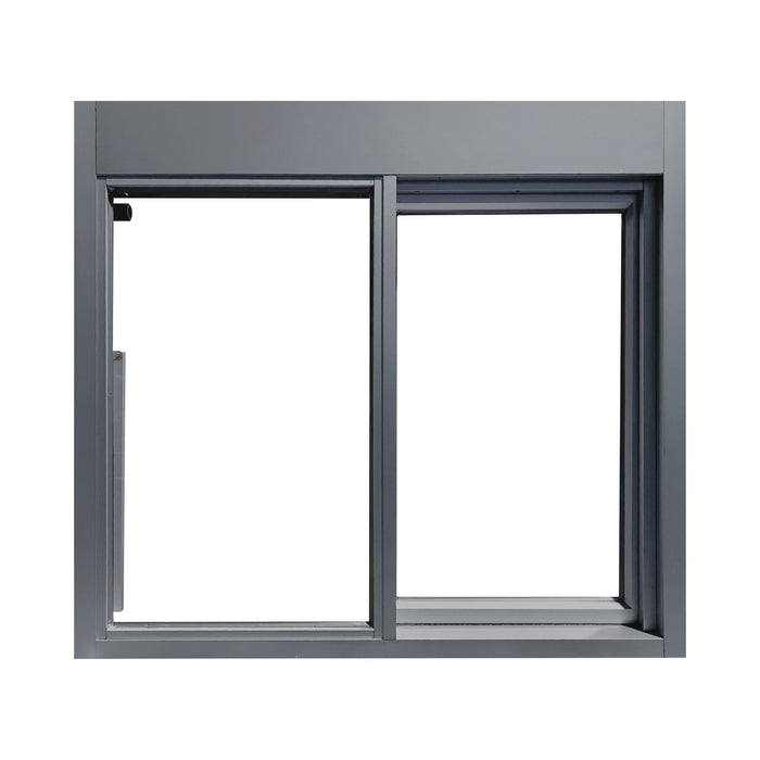 Grey 275-SC Ready Access Self Closing Drive-Thru Slider Window Multiple Colors