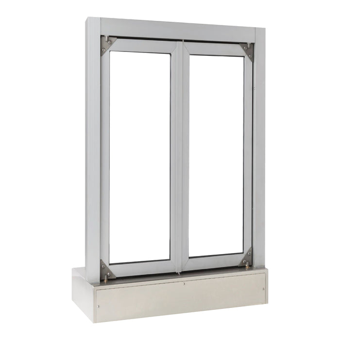 Push Bar Bi-Fold Transaction Window clear