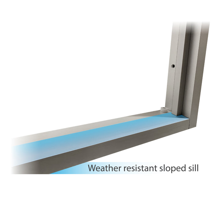 275-SC Ready Access Self Closing Drive-Thru Slider Window Multiple Colors weather resistant sloped sill