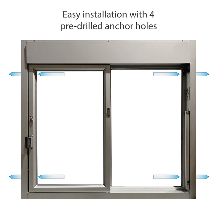 275-SC Ready Access Self Closing Drive-Thru Slider Window Multiple Colors easy installation