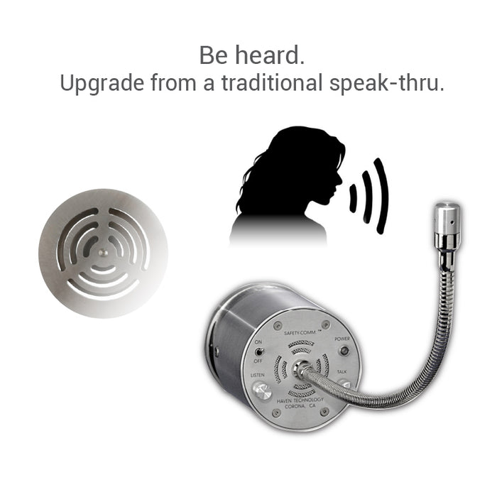 Amplified speak-thru upgrade