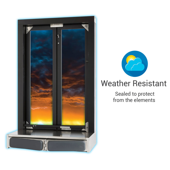 Push Bar Bi-Fold Transaction Window weather resistant