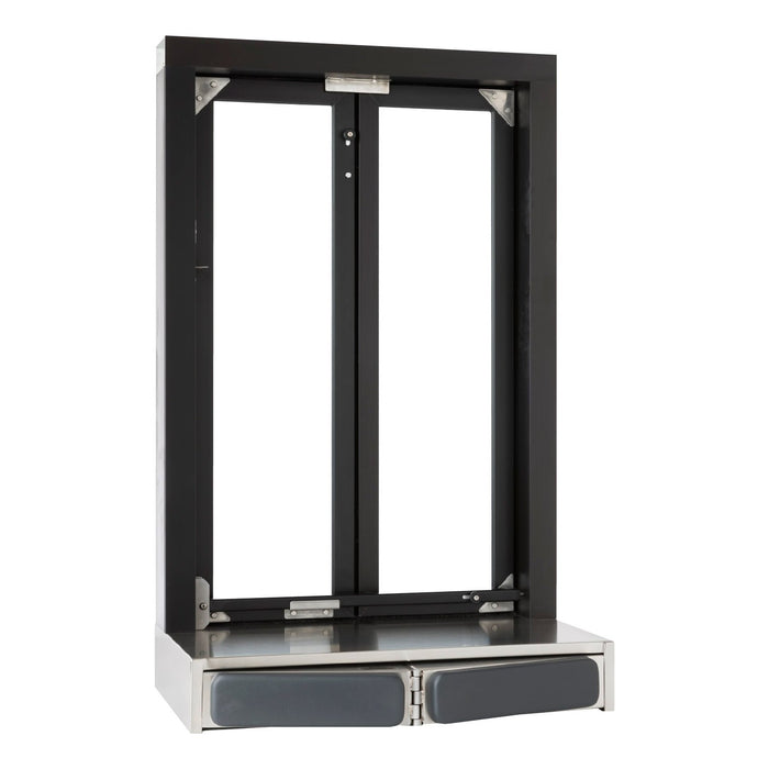 Push Bar Bi-Fold Transaction Window Bronze