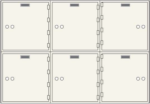 CSE-B-AX-6 Safe Deposit Box