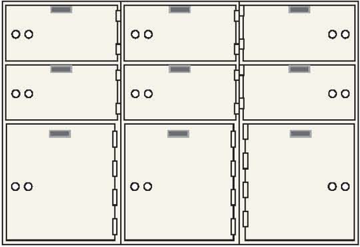 CSE-B-AX-9 Safe Deposit Box