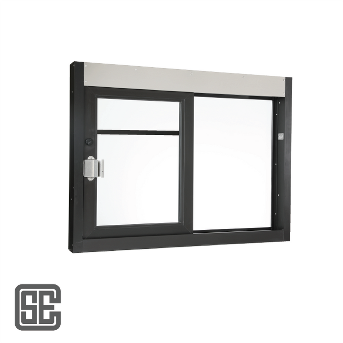 "CSE-QS-SC-CA-4030 | 48"" (W) x 36"" (H) California Self-Closing Drive-thru Window with Glass Panel"