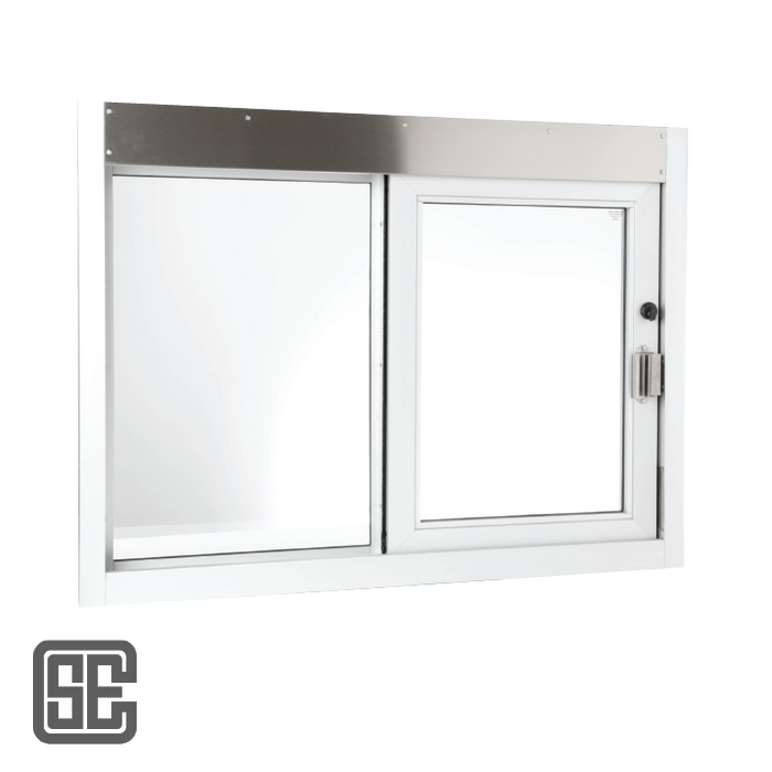 "CSE-QS-SC-CA-3030 | 36"" (W) x 36"" (H) California Self-Closing Drive-thru Window with Air Curtain"