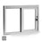 Single Self-Closing Horizontal Slider Drive-Thru Window in Clear Anodized Aluminum