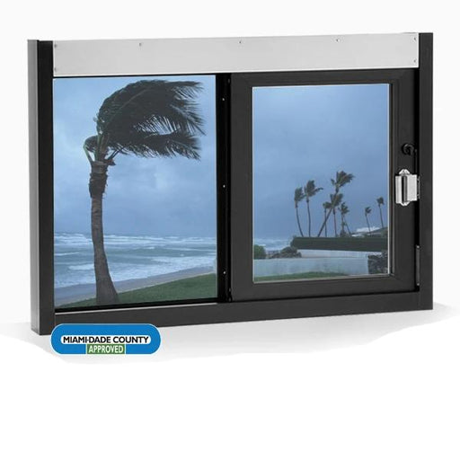 Hurricane Impact Sliding Drive-Thru Window