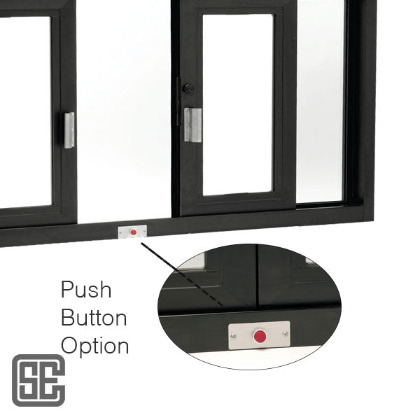 Drive-Thru Hurricane Impact Window Push Button Option