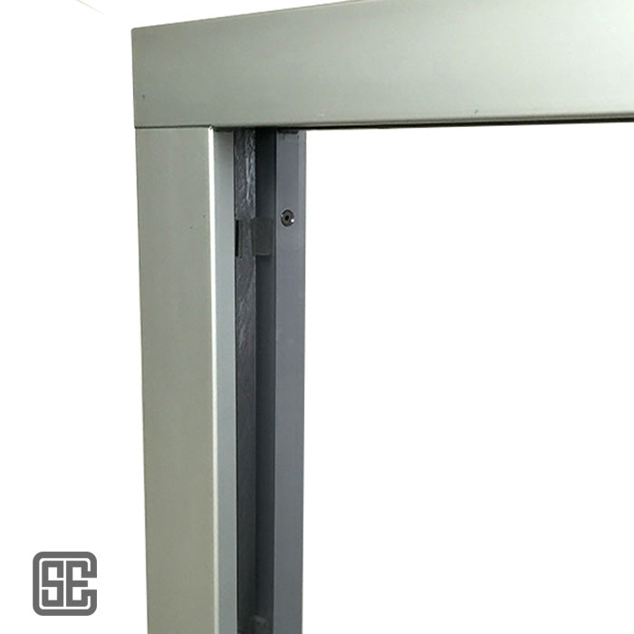 T3 Style 24x36 Bullet Resistant Ticket Window w/ Natural Voice Frame and Laminate Base